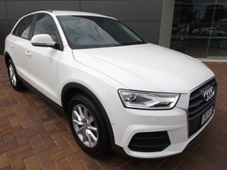2017 Audi Q3 8U MY17 TDI S Tronic Quattro White 7 Speed Sports Automatic Dual Clutch Wagon.