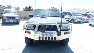 2000 Nissan Patrol GU II ST Blue 5 Speed Manual Wagon.
