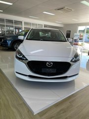 2020 Mazda 2 G15 Pure White 6 Speed Automatic Hatchback.