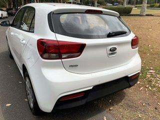 2019 Kia Rio YB MY19 S Clear White 6 Speed Manual Hatchback.