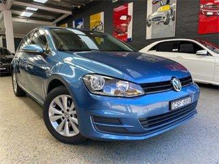 2014 Volkswagen Golf VII 90TSI Blue Sports Automatic Dual Clutch Hatchback.