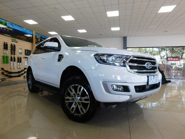 Used Ford Everest UA II 2019.75MY Trend Wonthaggi, 2019 Ford Everest UA II 2019.75MY Trend White 10 Speed Sports Automatic SUV