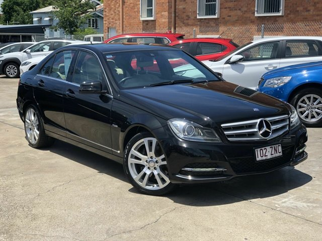 Used Mercedes-Benz C-Class W204 MY11 C300 BlueEFFICIENCY 7G-Tronic + Avantgarde Chermside, 2011 Mercedes-Benz C-Class W204 MY11 C300 BlueEFFICIENCY 7G-Tronic + Avantgarde Black 7 Speed