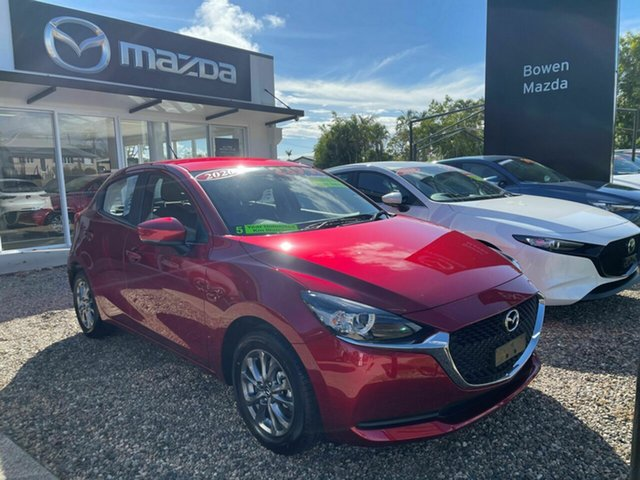 Demo Mazda 2 Bowen, 2020 Mazda 2 G15 Pure Red 6 Speed Automatic Hatchback