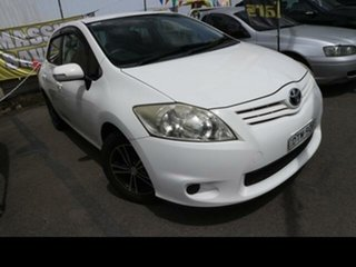 2010 Toyota Corolla ZRE152R MY11 Ascent White 6 Speed Manual Hatchback.