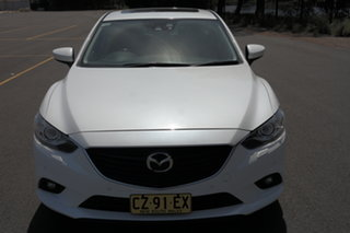 2014 Mazda 6 GJ1031 Atenza SKYACTIV-Drive White 6 Speed Sports Automatic Sedan.