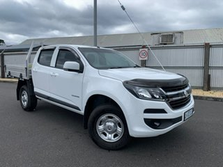 2019 Holden Colorado RG MY20 LS Crew Cab 4x2 White 6 Speed Sports Automatic Cab Chassis.
