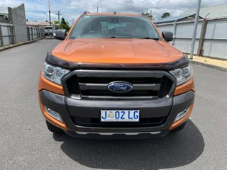 2017 Ford Ranger PX MkII Wildtrak Double Cab Orange 6 Speed Manual Utility