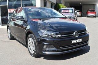 2018 Volkswagen Polo AW MY18 70TSI DSG Trendline Black 7 Speed Sports Automatic Dual Clutch.