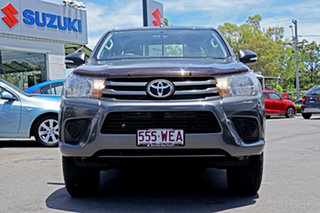 2015 Toyota Hilux GUN136R SR Double Cab 4x2 Hi-Rider Grey 6 Speed Manual Utility.