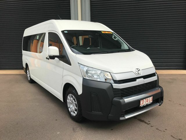 Used Toyota HiAce GDH322R Commuter High Roof Super LWB GL Winnellie, 2019 Toyota HiAce GDH322R Commuter High Roof Super LWB GL White 6 Speed Sports Automatic Bus