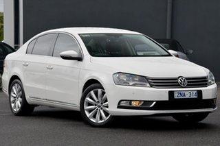 2012 Volkswagen Passat Type 3C MY13 118TSI DSG White 7 Speed Sports Automatic Dual Clutch Sedan.