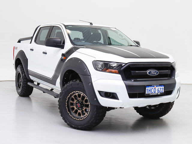 Used Ford Ranger PX MkII MY17 XL 3.2 (4x4), 2017 Ford Ranger PX MkII MY17 XL 3.2 (4x4) White 6 Speed Manual Crew Cab Utility