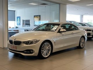 2014 BMW 428i F33 Luxury Line Mineral White 8 Speed Automatic Convertible.