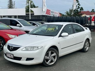 2003 Mazda 6 GG1031 Classic Pearl White 4 Speed Sports Automatic Hatchback.