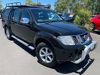 2011 Nissan Navara D40 MY11 ST-X Black 5 Speed Automatic Utility.