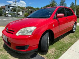 2006 Toyota Corolla ZZE122R 5Y Ascent Sport Red 4 Speed Automatic Hatchback.