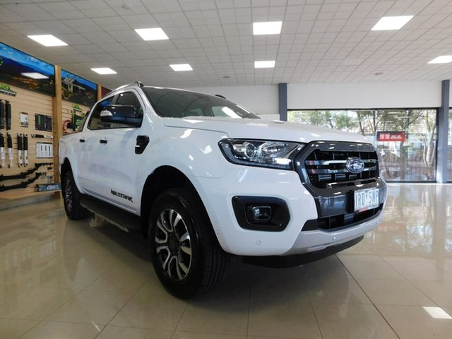Used Ford Ranger PX MkIII 2019.75MY Wildtrak Wonthaggi, 2019 Ford Ranger PX MkIII 2019.75MY Wildtrak White 10 Speed Sports Automatic Double Cab Pick Up