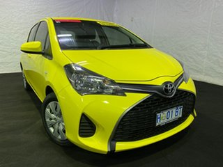 2014 Toyota Yaris NCP130R YR Yellow 4 Speed Automatic Hatchback.