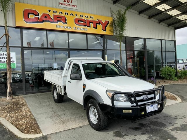 Used Ford Ranger PK XL (4x4) Traralgon, 2011 Ford Ranger PK XL (4x4) White 5 Speed Manual Cab Chassis