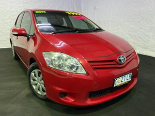 2011 Toyota Corolla ZRE152R MY11 Ascent Red 6 Speed Manual Hatchback.