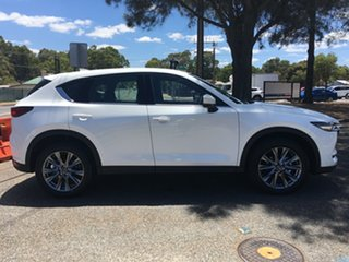 2020 Mazda CX-5 KF4WLA Akera SKYACTIV-Drive i-ACTIV AWD White Pearl 6 Speed Sports Automatic Wagon.