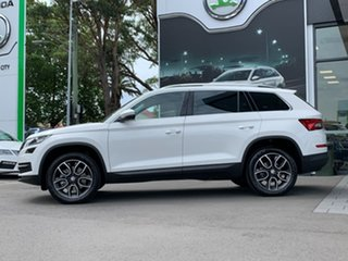 2020 Skoda Kodiaq NS MY20.5 132TSI DSG White 7 Speed Sports Automatic Dual Clutch Wagon.