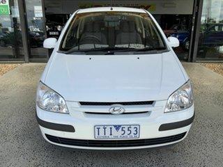 2005 Hyundai Getz TB XL White 4 Speed Automatic Hatchback.