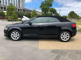 2010 Audi A3 8P MY11 TFSI S Tronic Attraction Black 7 Speed Sports Automatic Dual Clutch Convertible