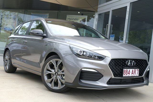 Demo Hyundai i30 PD.V4 MY21 N Line D-CT Premium Toowoomba, 2020 Hyundai i30 PD.V4 MY21 N Line D-CT Premium Fluidic Metal 7 Speed Sports Automatic Dual Clutch