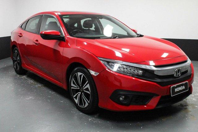 Used Honda Civic 10th Gen MY16 VTi-LX Cardiff, 2016 Honda Civic 10th Gen MY16 VTi-LX Red 1 Speed Constant Variable Sedan