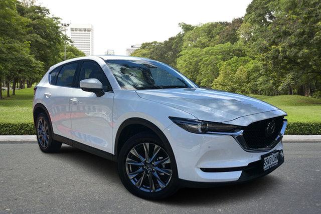 Demo Mazda CX-5 KF4WLA Akera SKYACTIV-Drive i-ACTIV AWD Paradise, 2020 Mazda CX-5 KF4WLA Akera SKYACTIV-Drive i-ACTIV AWD White Pearl 6 Speed Sports Automatic Wagon