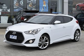 2017 Hyundai Veloster FS5 Series II SR Coupe D-CT Turbo White 7 Speed Sports Automatic Dual Clutch.