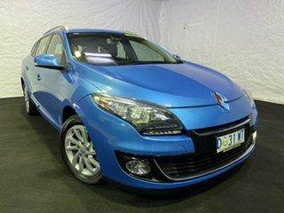 2014 Renault Megane III K95 Phase 2 GT-Line Sportwagon EDC Blue 6 Speed Sports Automatic Dual Clutch.