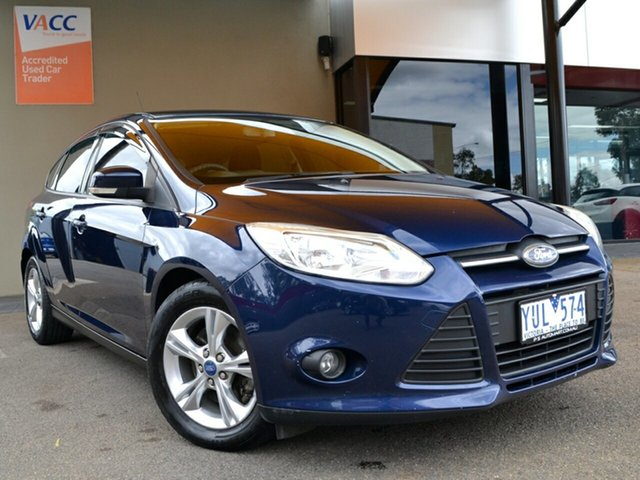 Used Ford Focus LW Trend Fawkner, 2011 Ford Focus LW Trend Blue 5 Speed Manual Hatchback