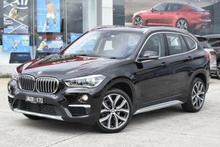 2018 BMW X1 F48 sDrive18d Steptronic Black 8 Speed Sports Automatic Wagon.