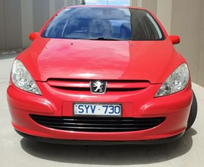 2004 Peugeot 307 T5 MY04 XSE Red 5 Speed Manual Hatchback.