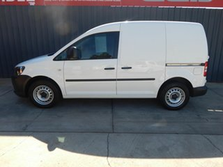 2013 Volkswagen Caddy 2KN MY14 TSI160 SWB White 5 Speed Manual Van.