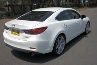 2014 Mazda 6 GJ1031 Atenza SKYACTIV-Drive White 6 Speed Sports Automatic Sedan