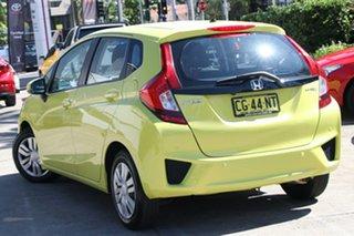 2015 Honda Jazz GK MY16 VTi-L Attract Yellow Continuous Variable Hatchback.