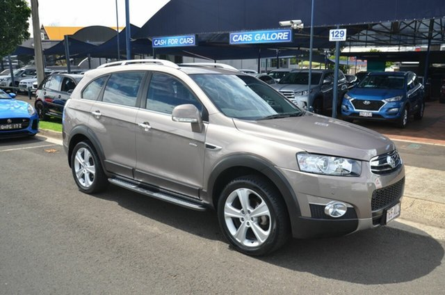 Used Holden Captiva CG MY13 7 LX (4x4) Toowoomba, 2013 Holden Captiva CG MY13 7 LX (4x4) Beige 6 Speed Automatic Wagon