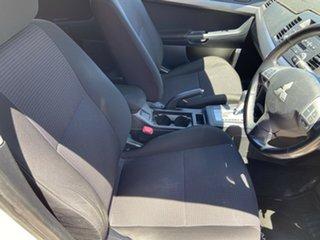 2010 Mitsubishi Lancer CJ MY11 ES White 6 Speed Constant Variable Sedan