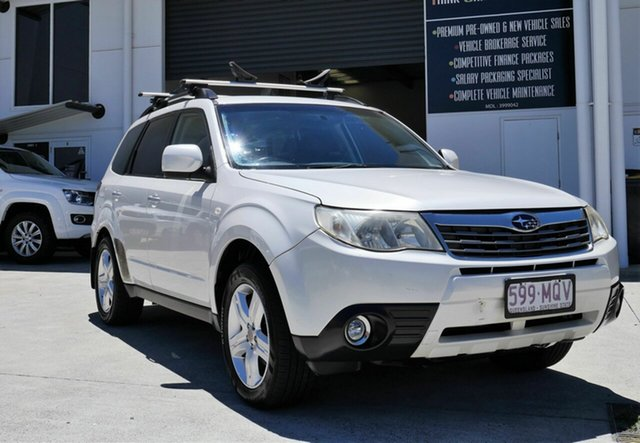 Used Subaru Forester S3 MY10 X AWD Capalaba, 2009 Subaru Forester S3 MY10 X AWD White 4 Speed Sports Automatic Wagon