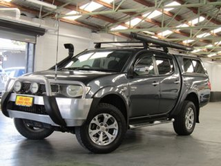 2010 Mitsubishi Triton MN MY10 GLX-R Double Cab Grey 5 Speed Manual Utility.