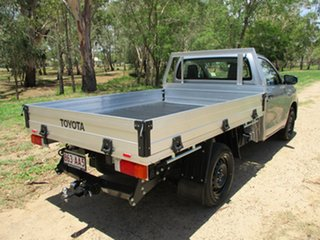2020 Toyota Hilux TGN121R Workmate 4x2 Silver Sky 6 Speed Sports Automatic Cab Chassis.