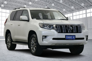 2018 Toyota Landcruiser Prado GDJ150R Kakadu Pearl White 6 Speed Sports Automatic Wagon.