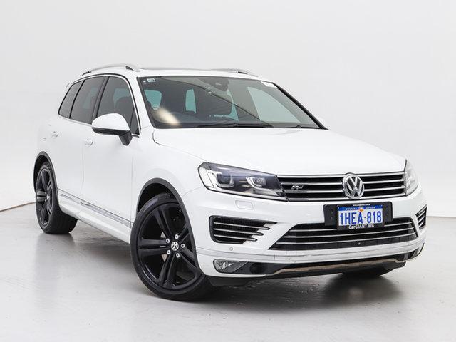 Used Volkswagen Touareg 7P MY16 V8 TDI R-Line, 2016 Volkswagen Touareg 7P MY16 V8 TDI R-Line White 8 Speed Automatic Wagon