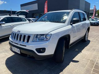2012 Jeep Compass MK MY12 Sport CVT Auto Stick White 6 Speed Constant Variable Wagon.