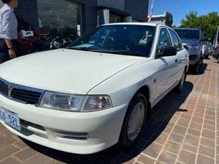 1999 Mitsubishi Lancer CE II GLXi White 4 Speed Automatic Sedan.
