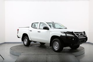 2018 Mitsubishi Triton MQ MY18 GLX (4x4) White 6 Speed Manual Dual Cab Utility.